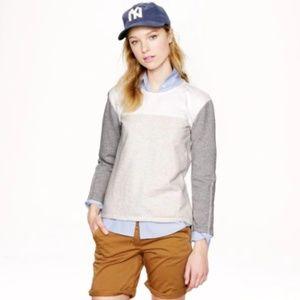 J. Crew Back Zip Colorblock Sweatshirt Size Small